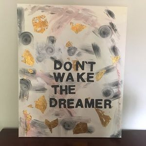 Honorable Citizens Wall Art - Don't wake the Dreamer Bedroom Art Acrylic Canvas